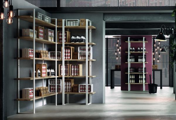 libreria componibile industrial dispensa