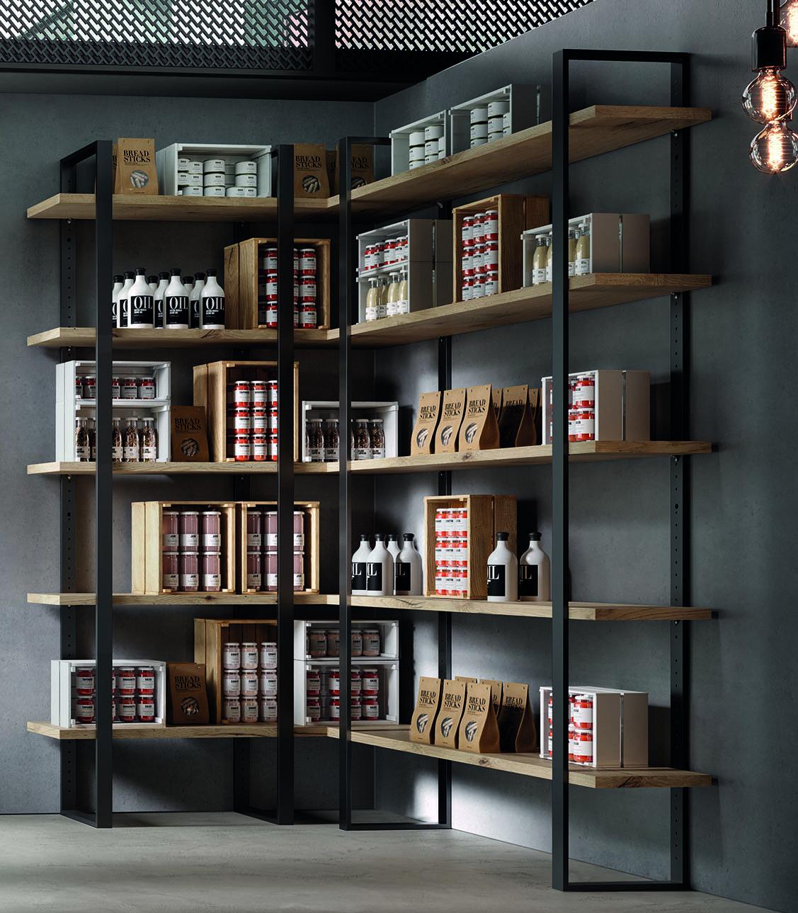 libreria componibile industrial dispensa cucina negozio