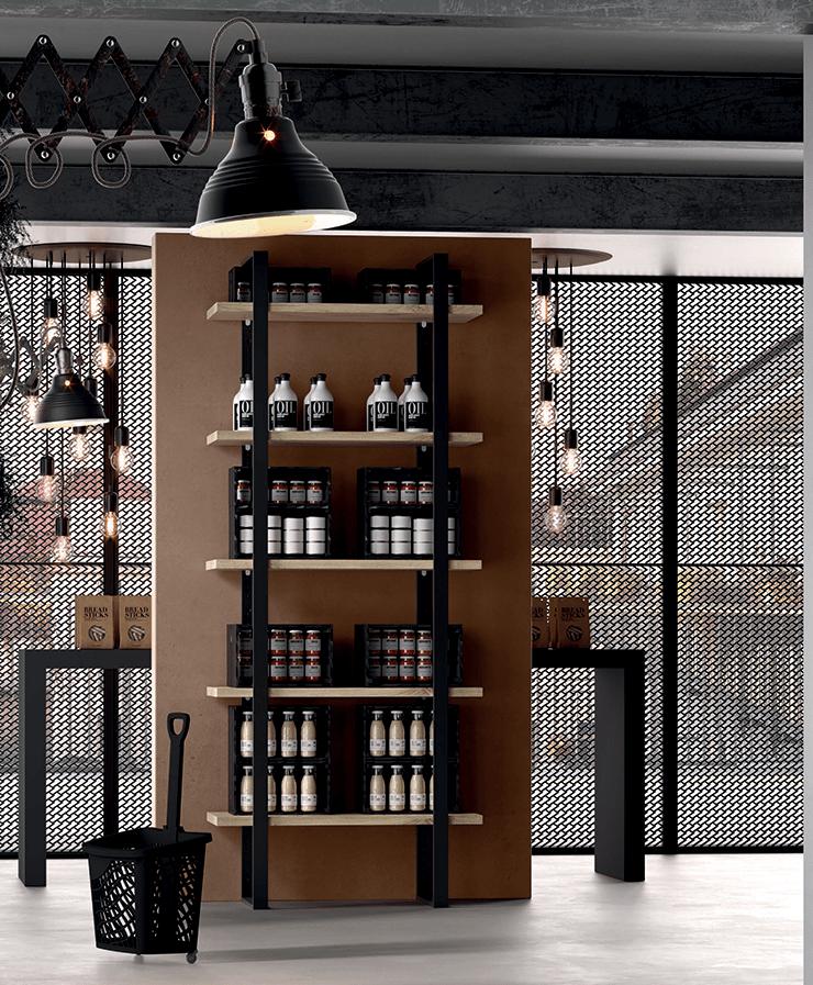 libreria componibile industrial 5 ripiani dispensa cucina